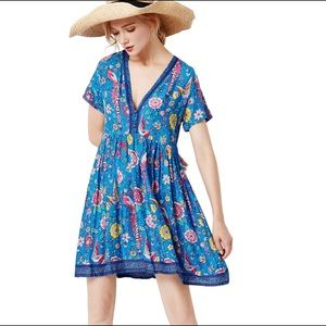 R.Vivimos Floral Print Mini Dress